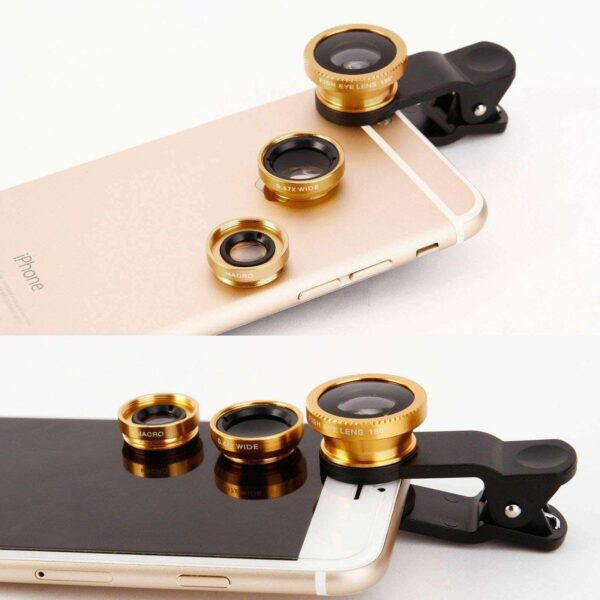 3 IN 1 MOBILE PHONE CAMERA LENS KIT FOR SAMSUNG IPHONE