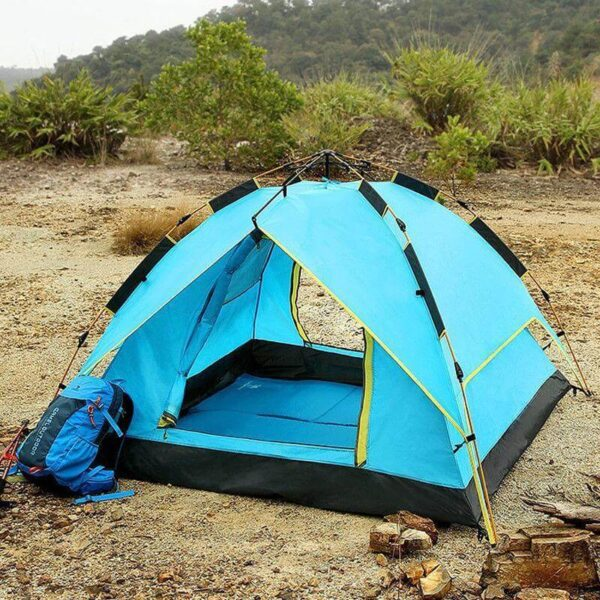 3 MAN AUTOMATIC POP UP WATERPROOF CAMPING TENT UV RESISTANT