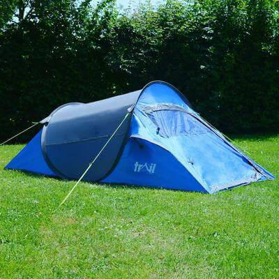 496131 blue pop up tent