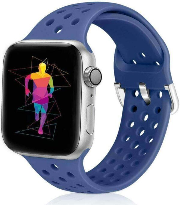 APPLE WATCH SERIES 54321 BREATHABLE SOFT SILICONE SPORTS BAND STRAP