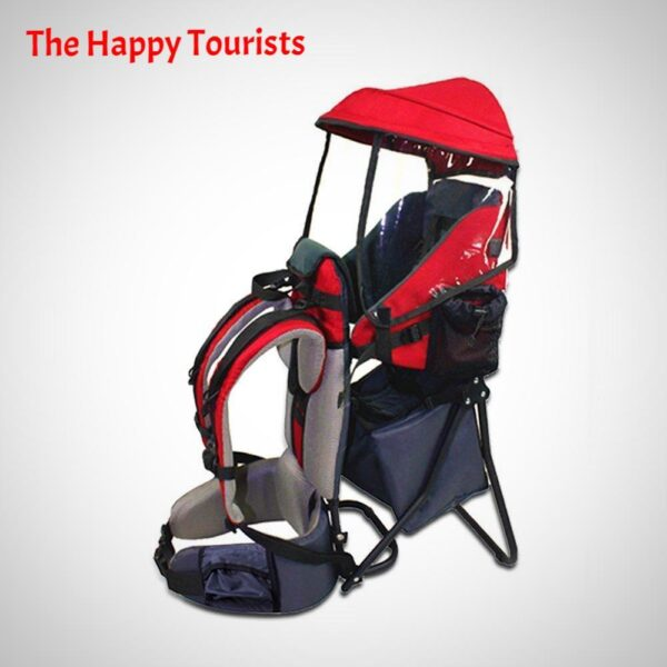 BABY TODDLER HIKING BACKPACK CARRIER WITH STAND RAIN COVER