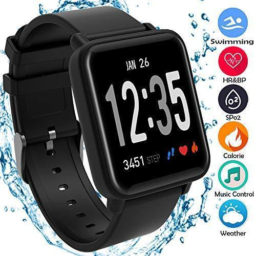 BEST BLOOD PRESSURE MONITOR SMART WATCH FITNESS TRACKER