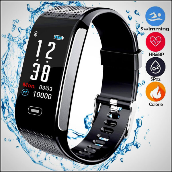 BEST FITNESS TRACKERS WITH 7 SPORTS MODE PEDOMETER HEART RATE BLOOD PRESSURE MONITOR 1