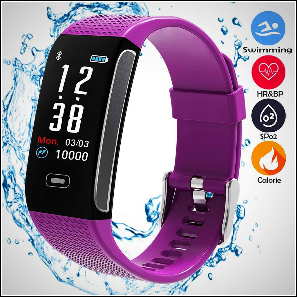 BEST FITNESS TRACKERS WITH 7 SPORTS MODE PEDOMETER HEART RATE BLOOD PRESSURE MONITOR 2