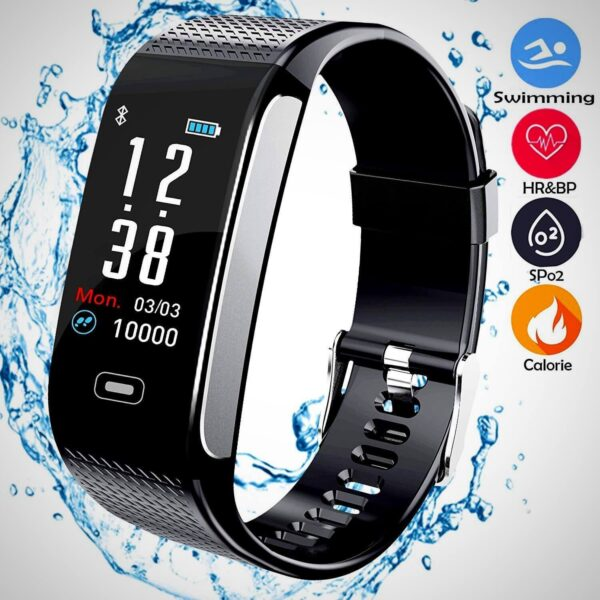 BEST FITNESS TRACKERS WITH 7 SPORTS MODE PEDOMETER HEART RATE BLOOD PRESSURE MONITOR