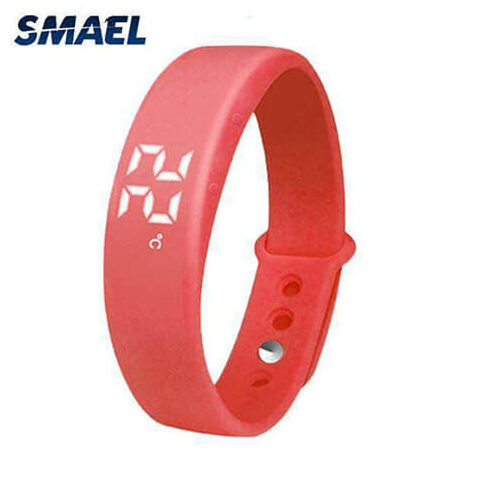 Red Smart Reminder 3D Pedometer Watch Best Model