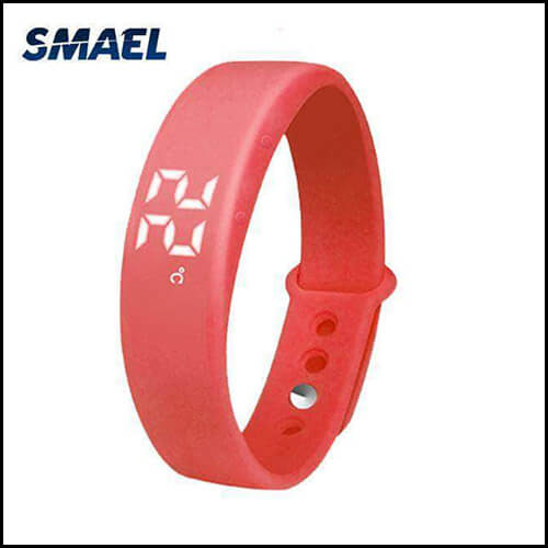 Red Smart Reminder 3D Pedometer Watch Best Model