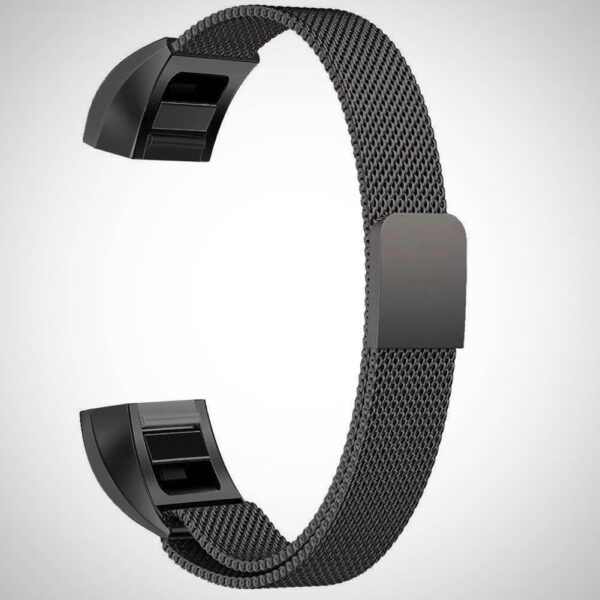 Black ALTA HR MAGNETIC MILANESE STAINLESS STEEL WATCH BAND STRAP