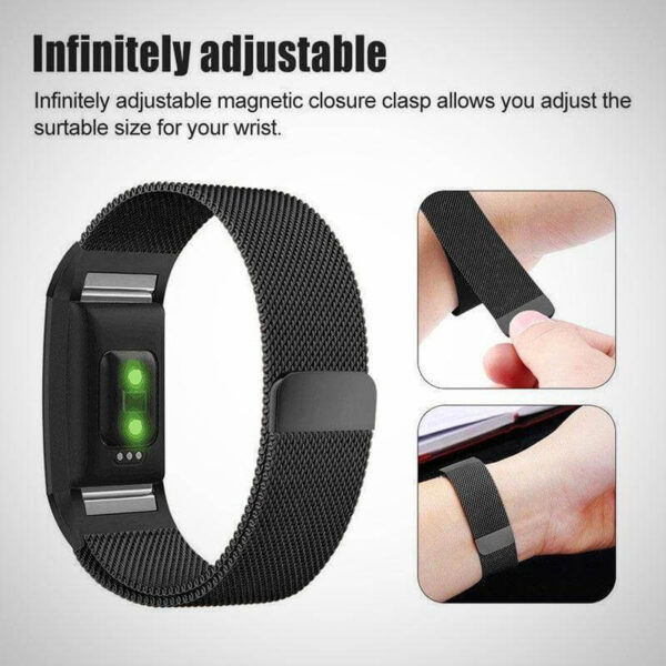 Black Fitbit charger 2 Activity Tracker Watch