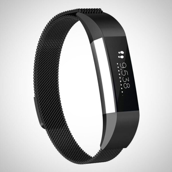 Black Milanese loop apple watch band