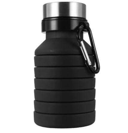 Black foldable water bottle