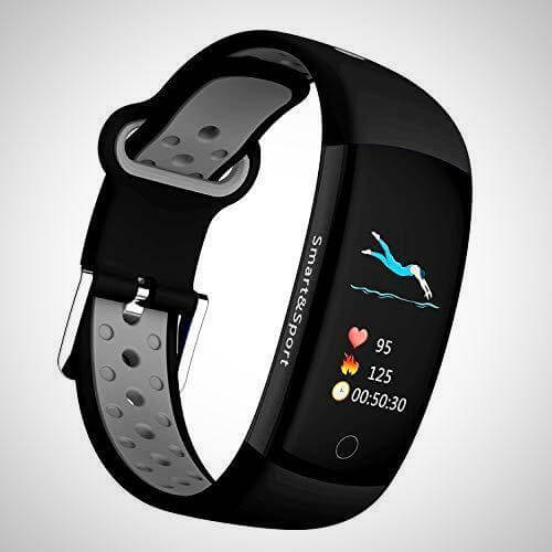 Black waterproof device to track fitness