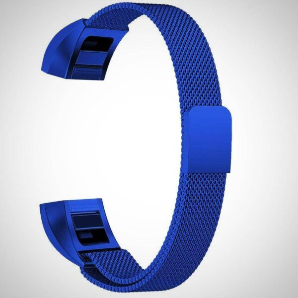 Blue FITBIT ALTA HR MAGNETIC MILANESE STAINLESS STEEL WATCH BAND STRAP