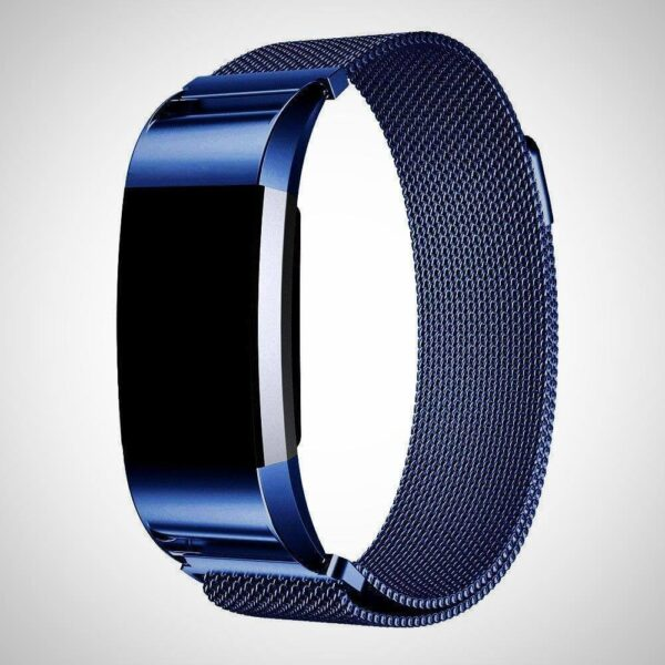Blue FITBIT CHARGE 2 BAND STRAP MAGNETIC MILANESE STAINLESS STEEL