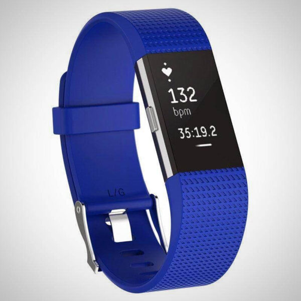 Blue FITBIT CHARGE 2 REPLACEMENT STRAP SPORTS SOFT BRACELET WATCH WRISTBAND