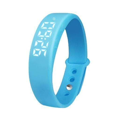 Blue smart reminder 3d pedometer watch