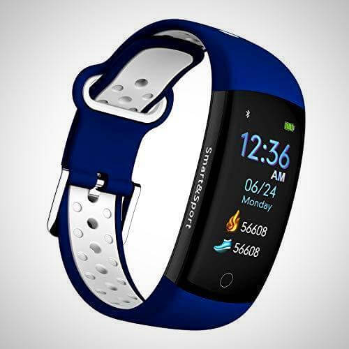 Blue waterproof device to track fitness