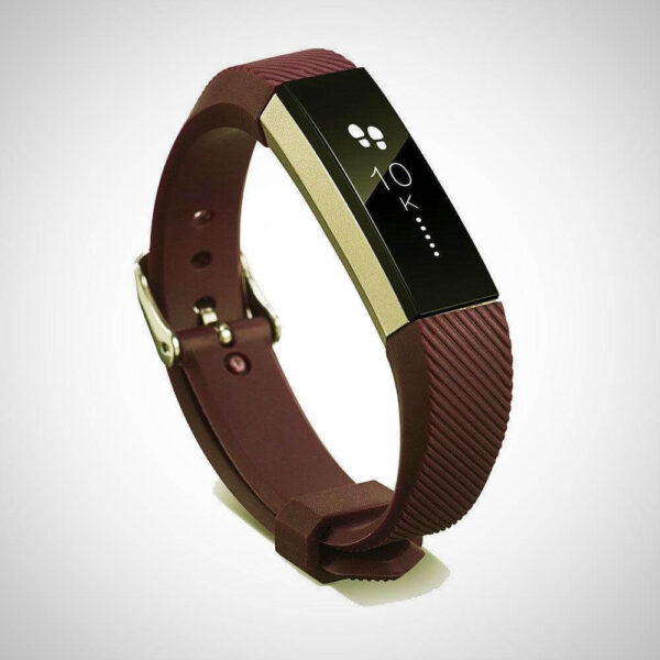 Brown FITBIT ALTA SILICONE REPLACEMENT WRISTBAND STRAP