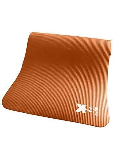 Brown PREMIUM 15MM THICK NBR YOGA EXERCISE MAT