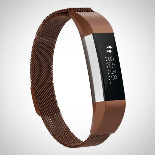 Coffee Fitbit Ace Kids SS Steel Milanese Band Strap
