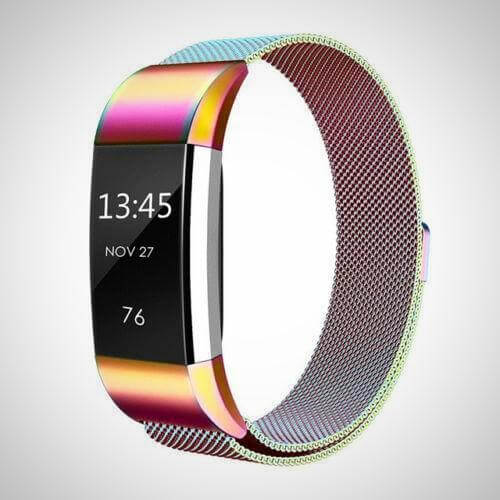 Colorfull FITBIT CHARGE 2 BAND STRAP MAGNETIC MILANESE STAINLESS STEEL