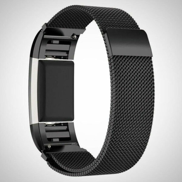 Dark Black Fitbit Charge 2 Band Strap