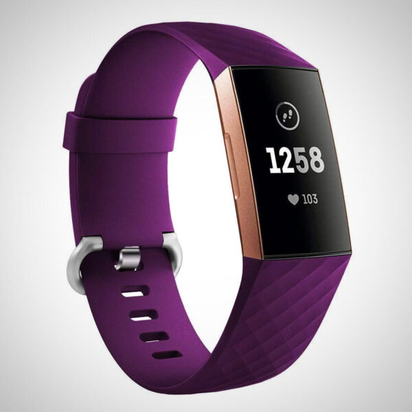 Dark Purple FITBIT CHARGE 3 REPLACEMENT SILICONE WATCH WRIST BAND STRAP