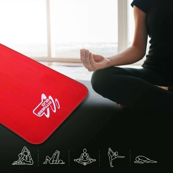 ECO FRIENDLY NBR YOGA MAT WITH CARRY HANDLE PILATES