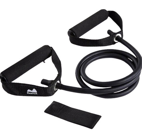 EXERCISE-WITH-RESISTANCE-BAND-LEG-WORKOUT-SINGLE-RESISTANCE-BAND-EXERCISE-TUBE