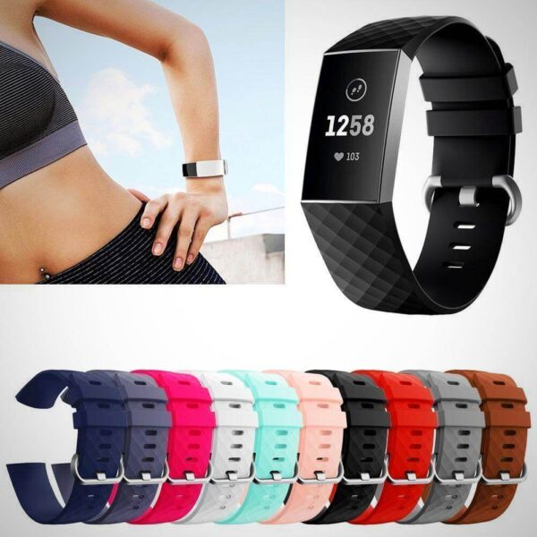 FITBIT CHARGE 3 REPLACEMENT SILICONE WATCH WRIST