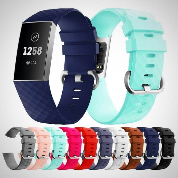 FITBIT CHARGE 3 REPLACEMENT SILICONE WATCH WRIST BAND