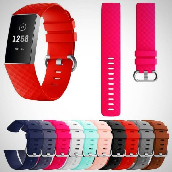 Fitbit Charge 3 Replacement Silicone Watch Wrist Band 2020