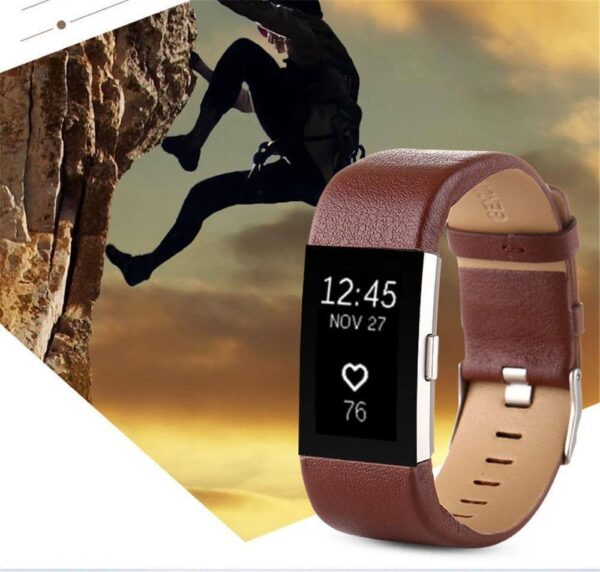 GENUINE LEATHER WATCH BAND STRAP FOR FITBIT CHARGE 2