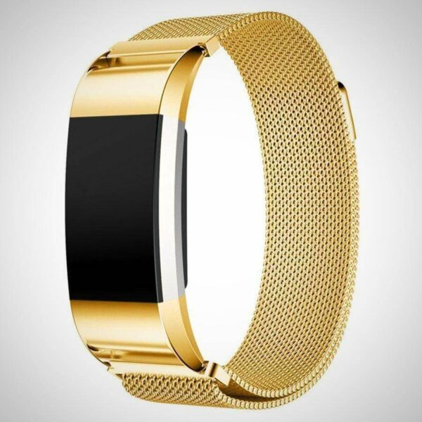 Gold FITBIT CHARGE 2 BAND STRAP MAGNETIC MILANESE STAINLESS STEEL