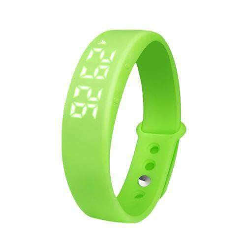 Green smart 3d pedometer watch