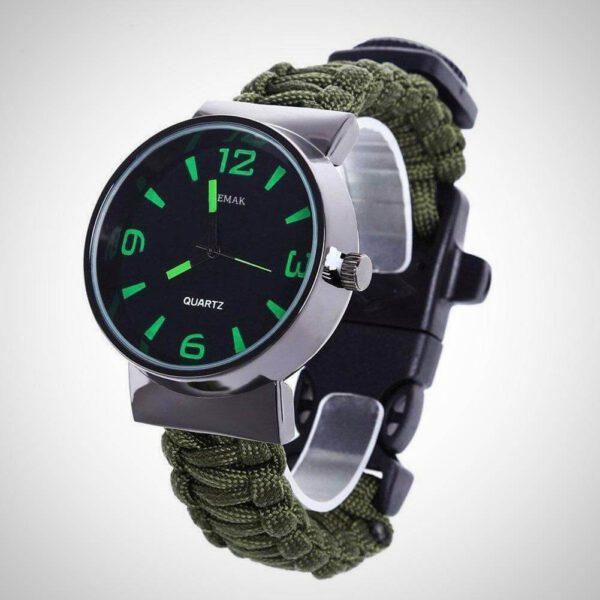 Green survival bracelet band
