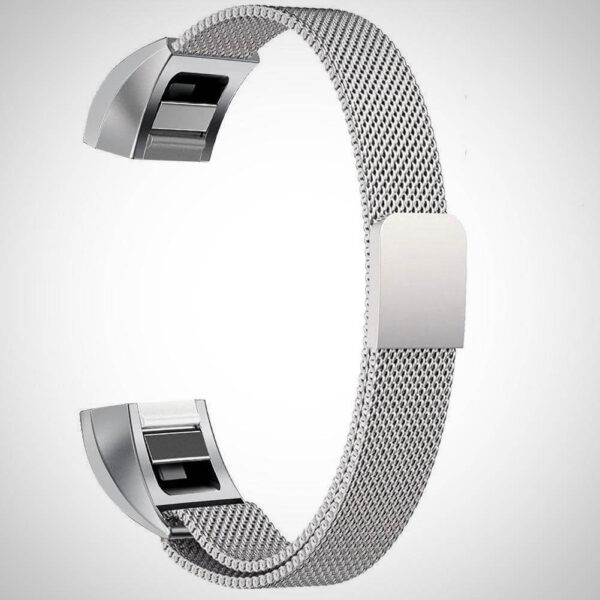 Grey ALTA HR MAGNETIC MILANESE STAINLESS STEEL WATCH BAND STRAP