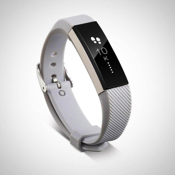 Grey FITBIT ALTA SILICONE REPLACEMENT WRISTBAND STRAP