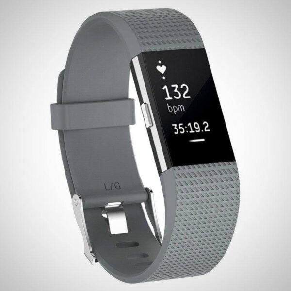 Grey FITBIT CHARGE 2 REPLACEMENT STRAP SPORTS SOFT BRACELET WATCH WRISTBAND
