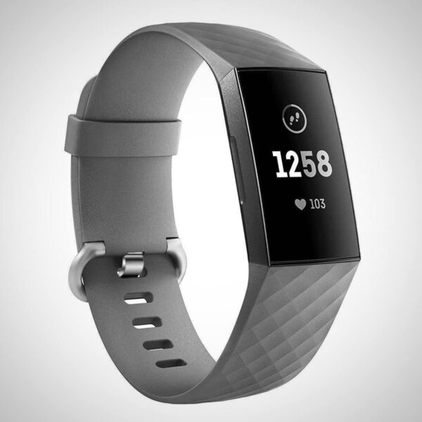 Grey FITBIT CHARGE 3 REPLACEMENT SILICONE WATCH WRIST BAND STRAP