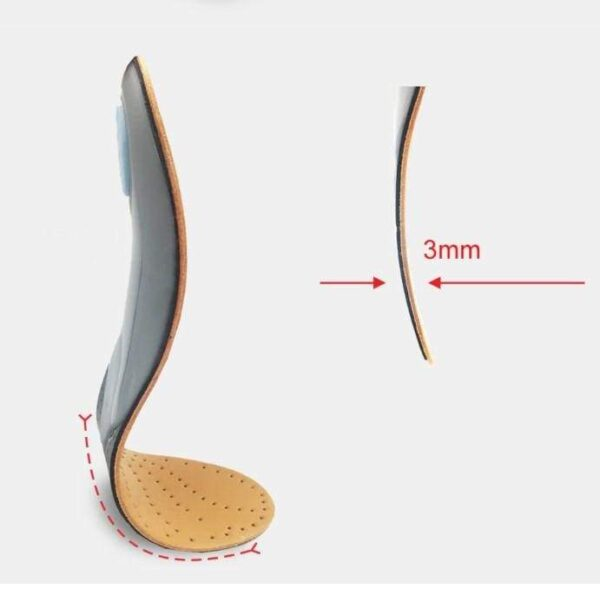 HIGH QUALITY LEATHER ORTHOTICS INSOLE FOR FLAT FOOT ARCH SUPPORT 25MM ORTHOPEDIC SILICONE INSOLES 2020