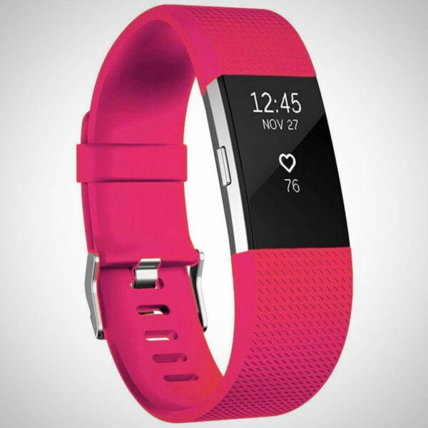 Hot Pink FITBIT CHARGE 2 REPLACEMENT STRAP SPORTS SOFT BRACELET WATCH WRISTBAND