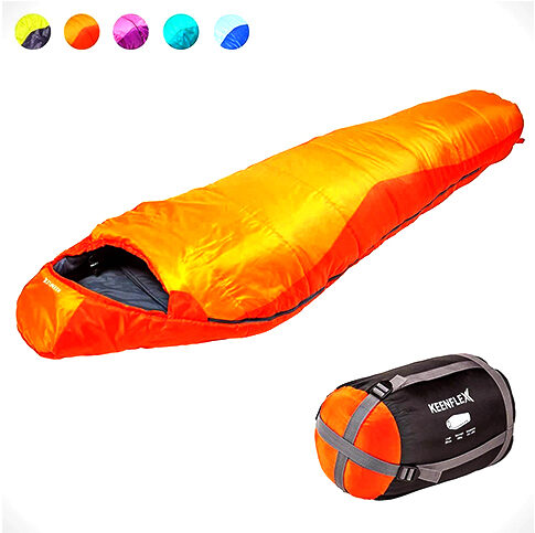 MUMMY SLEEPING BAG 3-4 SEASON EXTRA WARM & LIGHTWEIGHT COMPACT WATERPROOF HEAT CONTROL SYSTEM