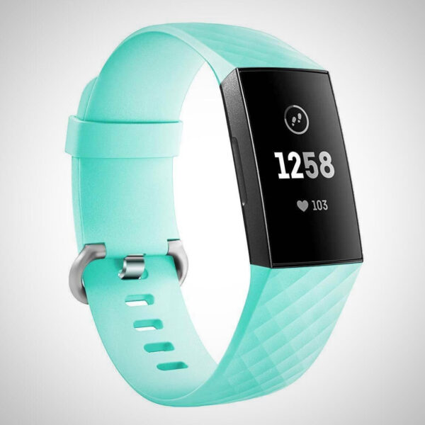 Mint Green FITBIT CHARGE 3 REPLACEMENT SILICONE WATCH WRIST BAND STRAP