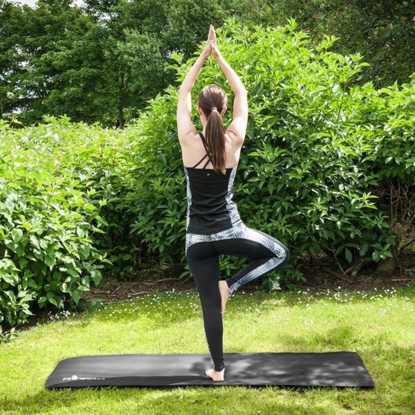 NBR RUBBER YOGA MAT WITH CARRY HANDLE FOR PILATES 1