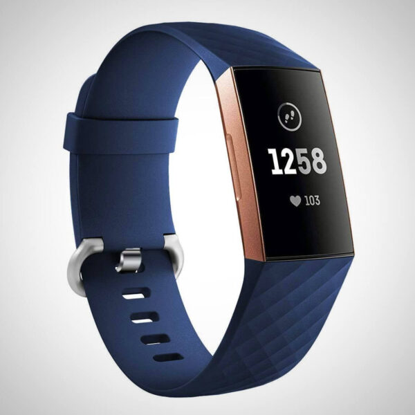 Navy Blue FITBIT CHARGE 3 REPLACEMENT SILICONE WATCH WRIST BAND STRAP