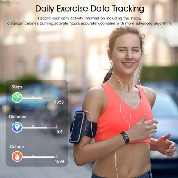 New FITNESS TRACKERS WITH 7 SPORTS MODE PEDOMETER HEART RATE BLOOD PRESSURE MONITOR 2020