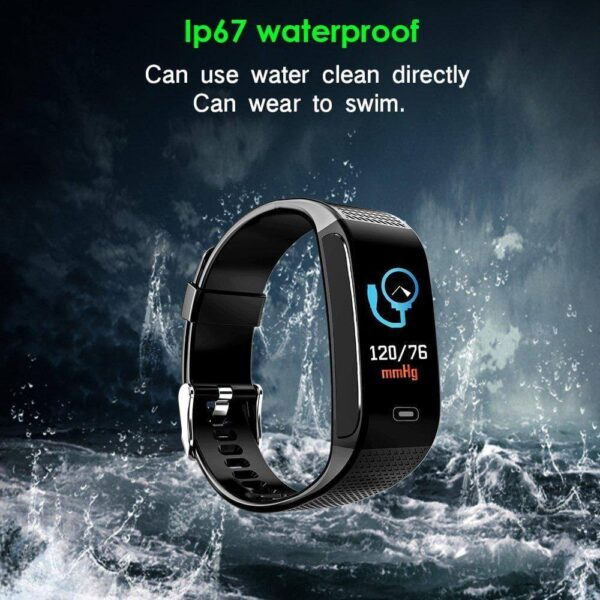 New FITNESS TRACKERS WITH 7 SPORTS MODE PEDOMETER HEART RATE BLOOD PRESSURE MONITOR