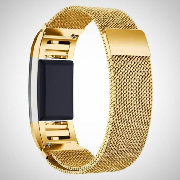 New Golden FITBIT CHARGE 2 BAND STRAP MAGNETIC MILANESE STAINLESS STEEL