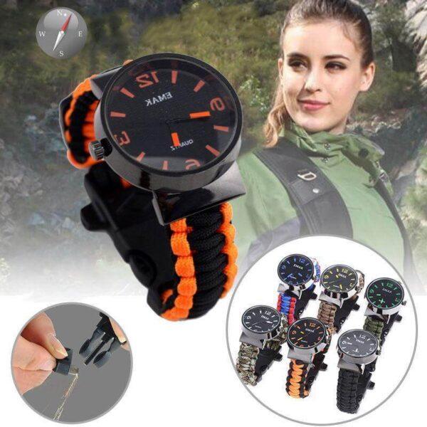 New Outdoor Paracord Survival Watch Bracelet